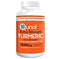 Turmeric Curcumin Softgels, Qunol with Ultra High Absorption 1000mg, Joint Support, Dietary Supplement, Extra Strength, 60 Count