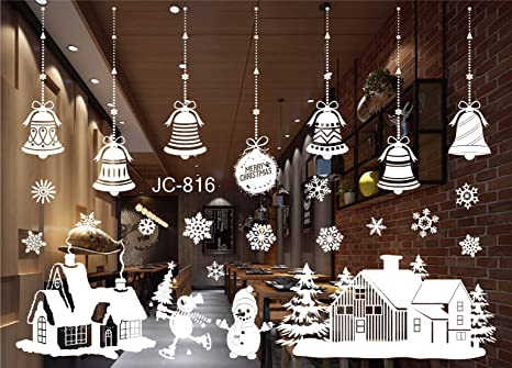 Decorazione Finestre Per Natale : Natale vetrofanie adesivi murali rimovibile fai da te finestra