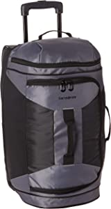 Samsonite Andante 2 Drop Bottom Wheeled Rolling Duffel Bag, Riverrock/Black, 22-Inch