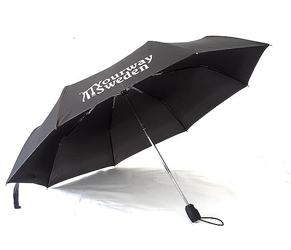 Yourway Sweden Paraguas de Viaje Plegable Automático, Apertura/Cierre Automático, A Prueba de Viento: Amazon.es: Equipaje