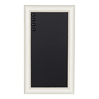 Kate and Laurel Macon Framed Magnetic Chalkboard, 13x23, Soft White