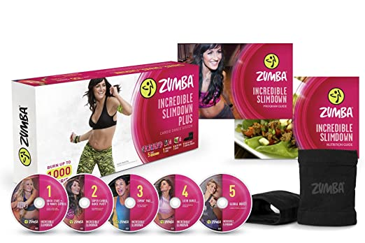 782cbccf4d4c4 Amazon.com  Zumba Incredible Slimdown Weight Loss Dance Workout DVD System   Sports   Outdoors