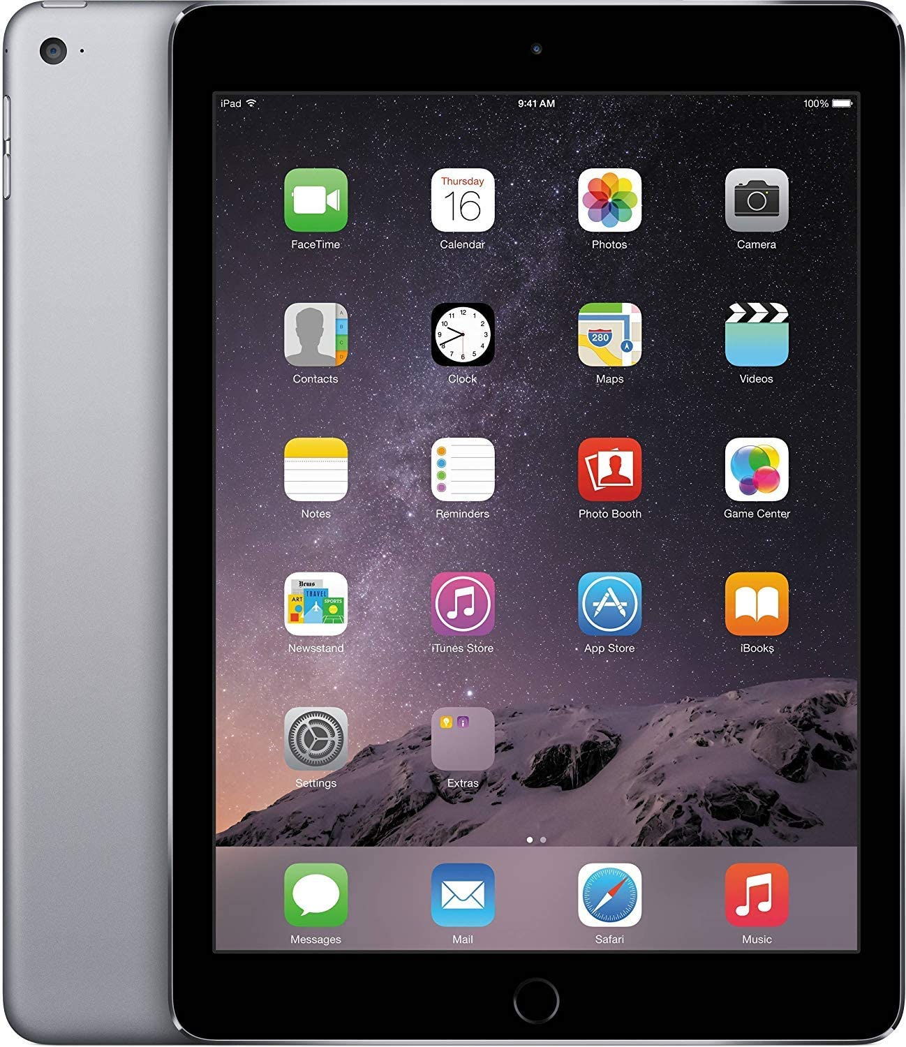 Apple MGL12LL/A iPad Air 2 Gray 9.7-Inch Retina Display, 16GB, Wi-Fi (Renewed)
