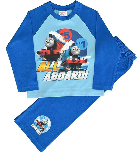 Thomas & Friends - Pijama dos piezas - Manga Larga - para niño azul azul 4