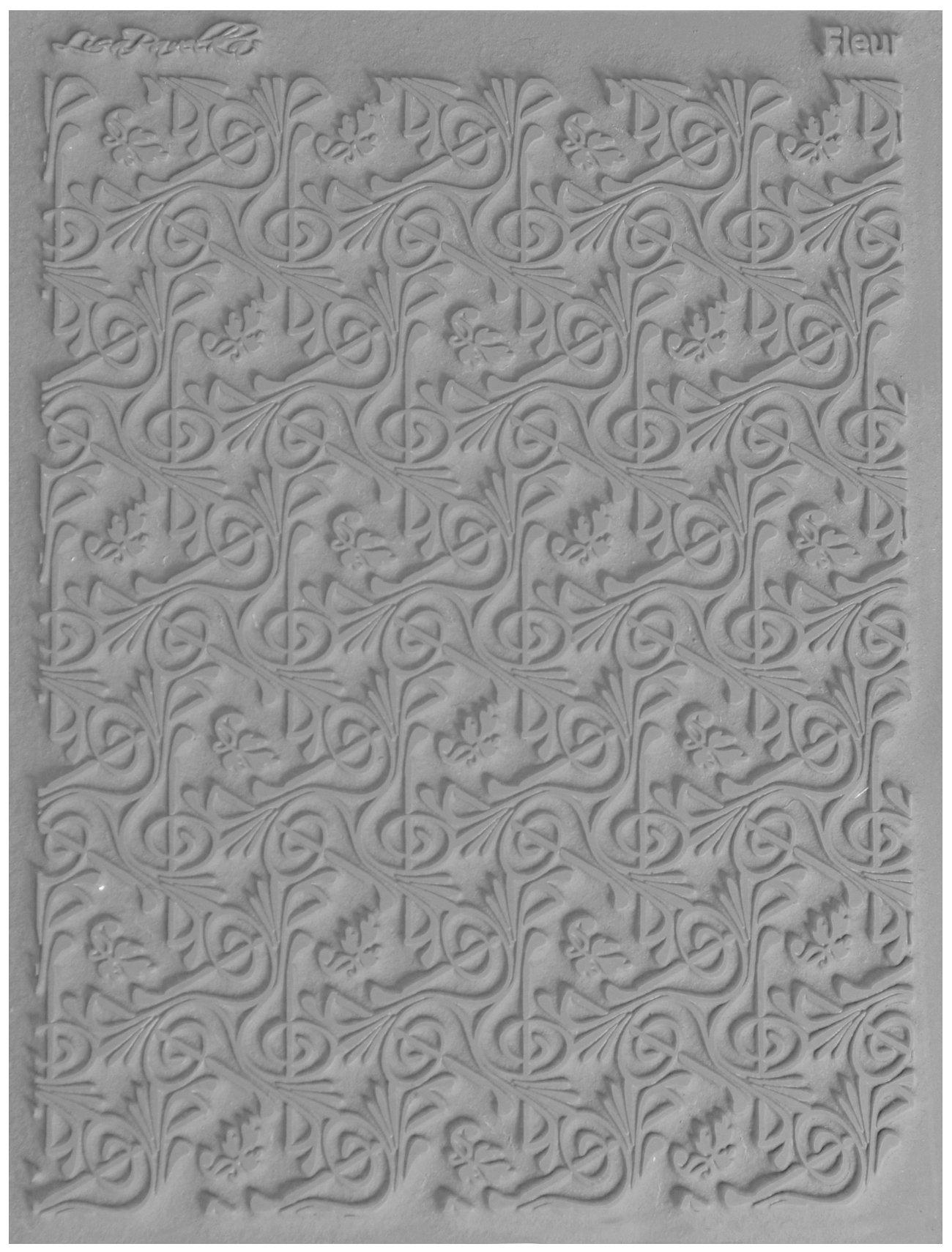 JHB International Inc Great Create Lisa Pavelka Individual Texture Stamp 4.25''X5.5'' 1/Pkg-Fleur