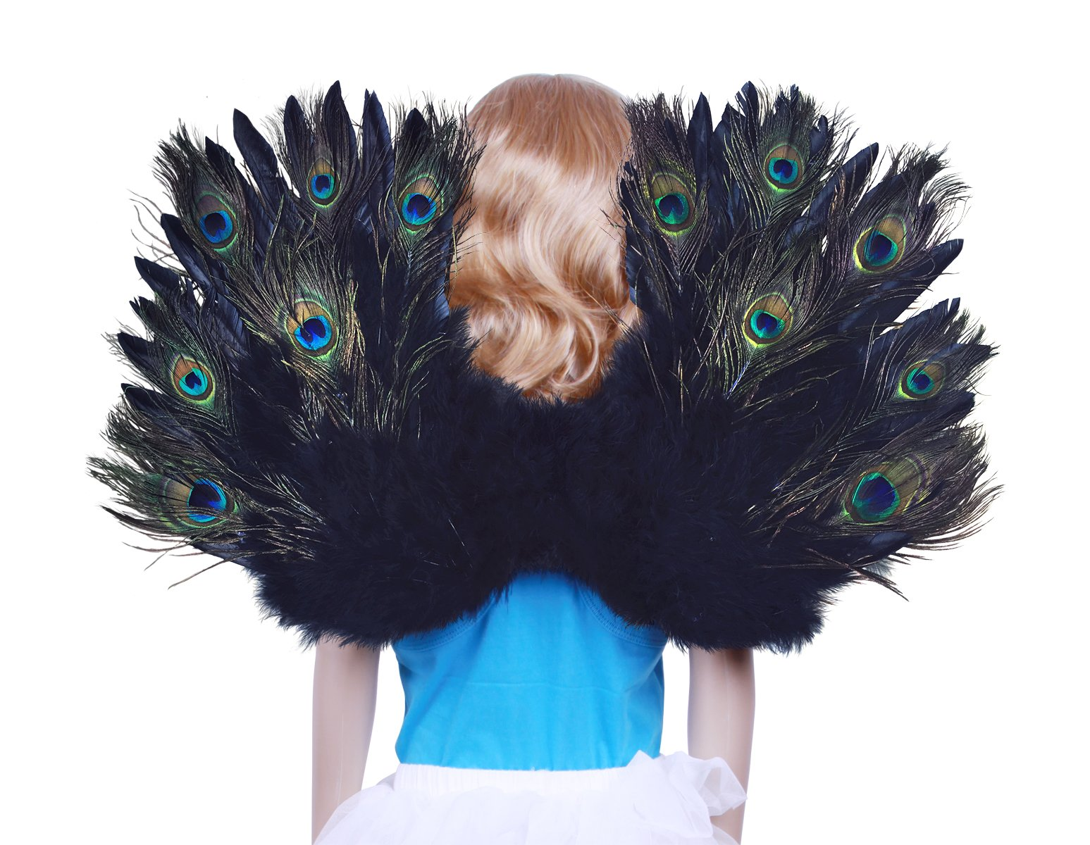 FashionWings (TM Children's Peacock Feather Costume Angel Wings Unisex