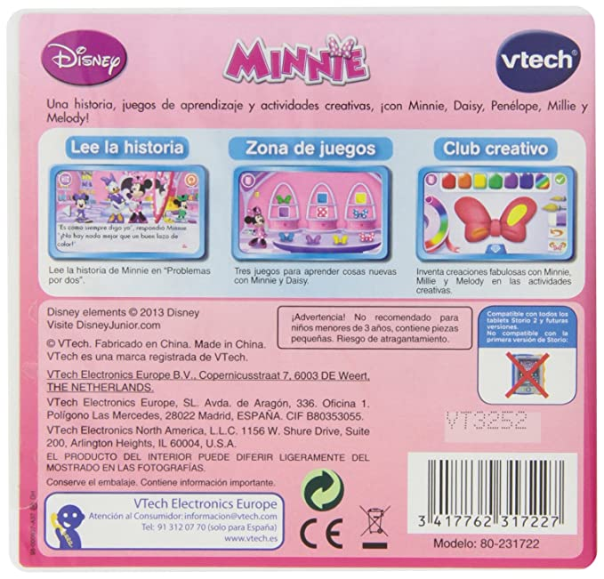 VTech - Juego para Tablet Educativo, Storio, Minnie (3480-231722)