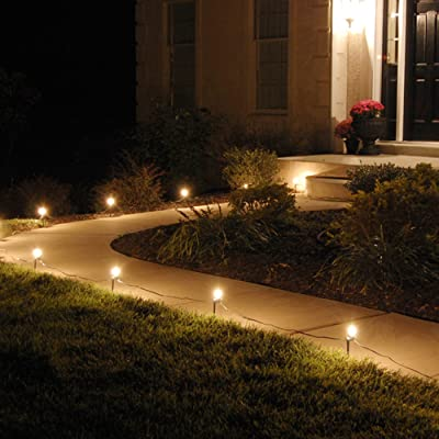 Lumabase 61010 10 Count Electric Pathway Lights, Clear : String Lights : Garden & Outdoor