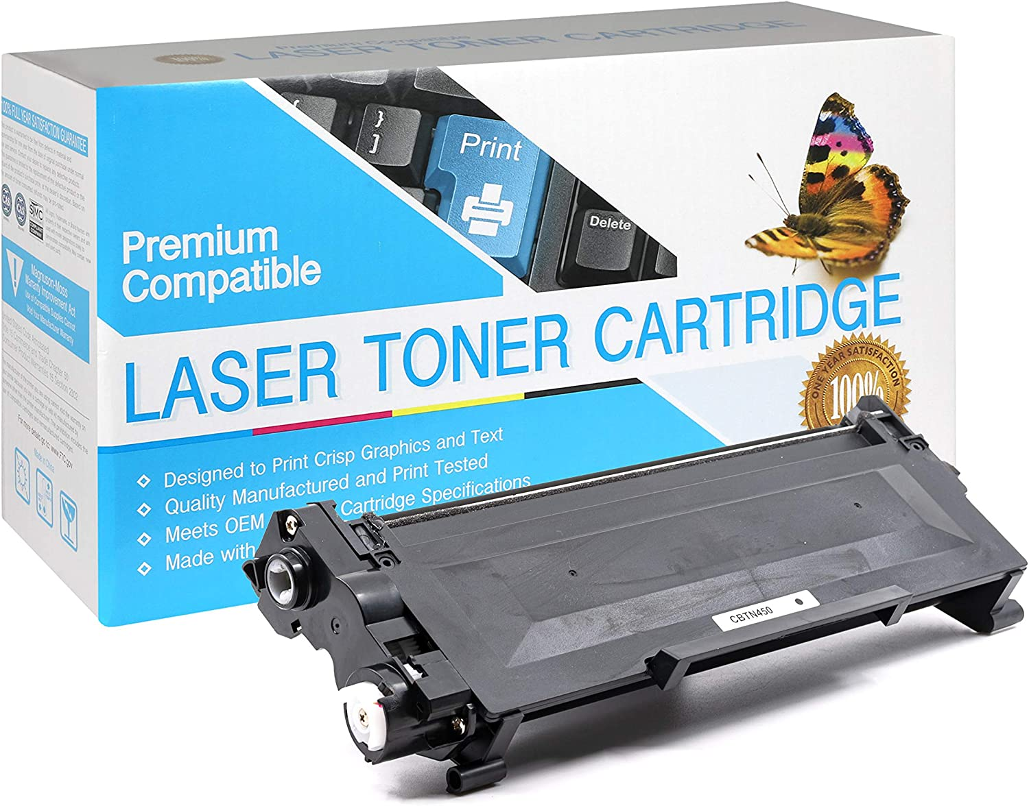 Black,1 Pack SuppliesOutlet Compatible Toner Cartridge Replacement for Brother TN450,TN-450 to Use with HL-2230