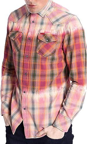 Diesel S-Zulphura Camisa Hombre (L, Naranja): Amazon.es: Ropa y accesorios