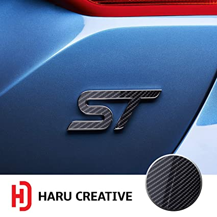 Haru Creative Front Grille Hood Rear Trunk Emblem Letter Insert Overlay Vinyl Decal Sticker Compatible With And Ford Focus St 2013 2019 6d High