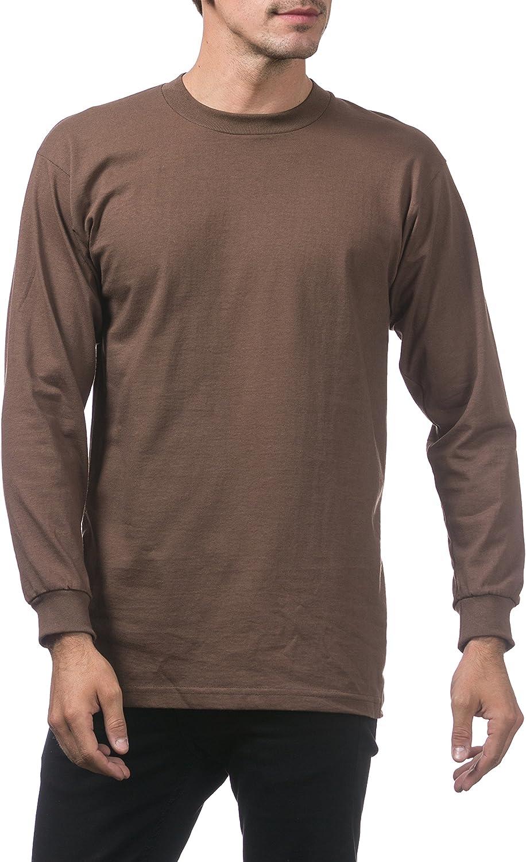 B075L1FQFF Pro Club Men\'s Heavyweight Cotton Long Sleeve Crew Neck T-Shirt 81-MC6qvjwL
