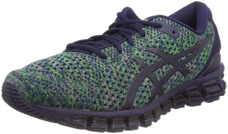 Asics Gel-Quantum 360 Knit 2, Zapatillas de Running para Hombre 43.5 EU|Multicolor (Peacoat/Green/White 5884)