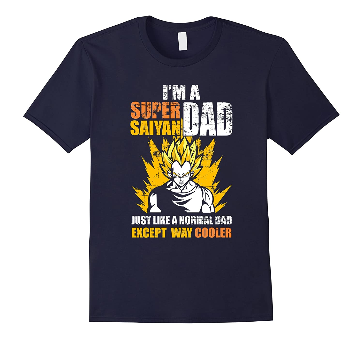 Mens Super Saiyan Dad T-Shirt Funny Fathers Day Gift DBZ Lovers-TD
