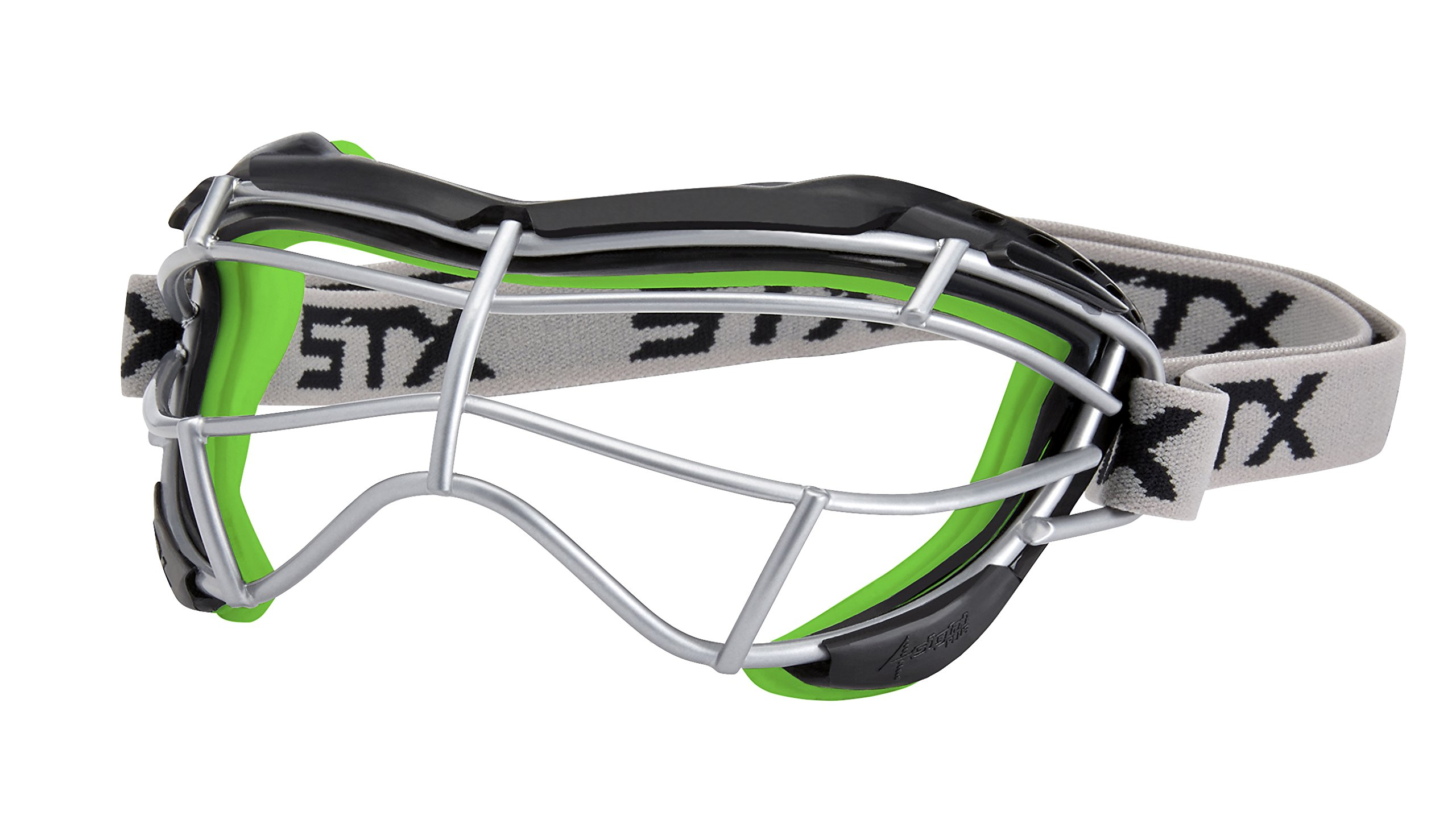 STX Lacrosse Women's 4Sight Focus Goggles, Black/Green