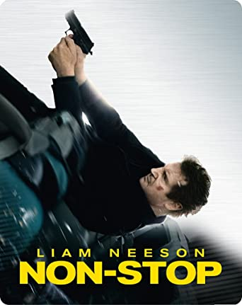 Non Stop Limited Edition Steelbook Blu Ray 2014 Amazon Co Uk Liam Neeson Julianne Moore Michelle Dockery Bar Paly Anson Mount Lupita Nyong O Corey Stoll Scoot Mcnairy Nate Parker Linus Roache Jaume Collet Serra Liam Neeson