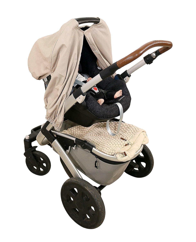 Cubrelactancia de ULLENBOOM ® marrón topo (pañuelo de lactancia también apto como cubierta para el cochecito o cobertor para asiento infantil; 100 % ...