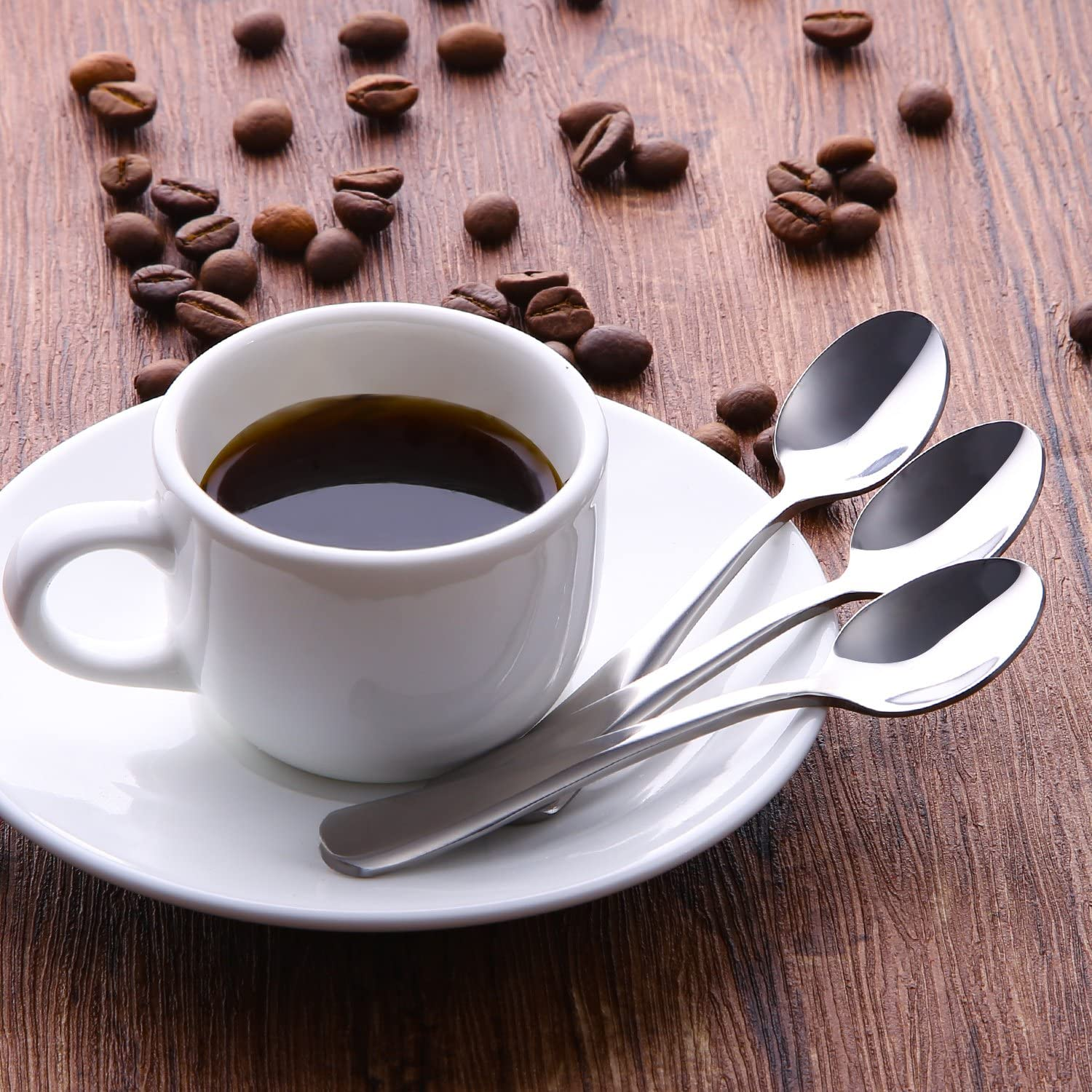 4 Inches Stainless Steel Mini Coffee Spoons Hiware 12-Piece Demitasse Espresso Spoons