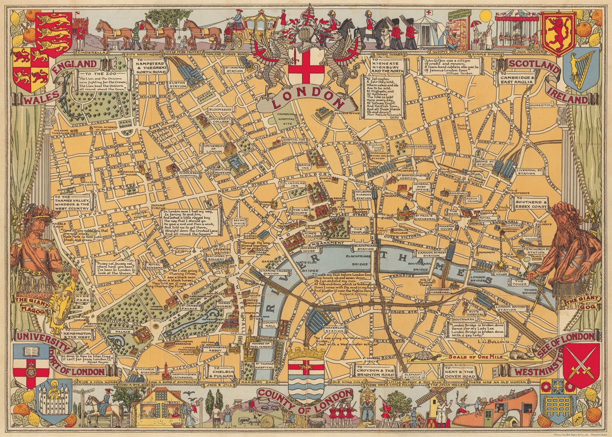 Cavallini london map wrapping paper amazon office products gumiabroncs Gallery
