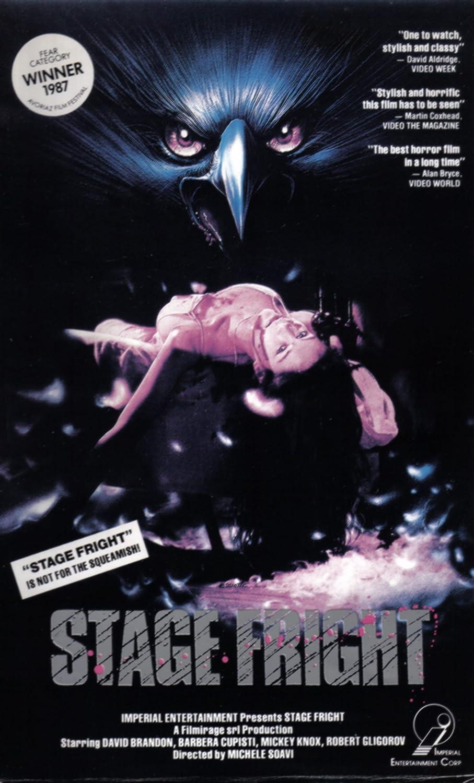 Amazon com: StageFright [VHS]: David Brandon, Barbara Cupisti