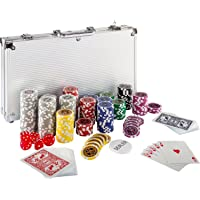 Maxstore Ultimate Pokerset con 300 Chips láser 12
