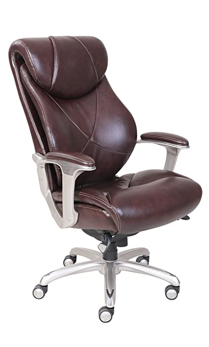 Amazoncom La Z Boy Cantania Executive Bonded Leather Office Chair
