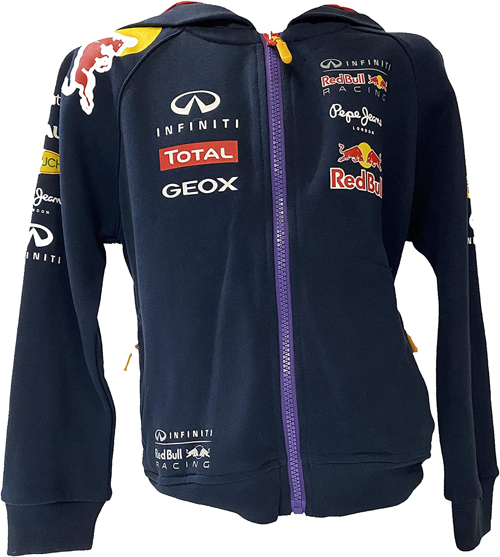 Infiniti Red Bull Racing Official Teamline Kinder Hoodie Kinder Sweat Jacke Formel 1 Navy 10 Sport Freizeit