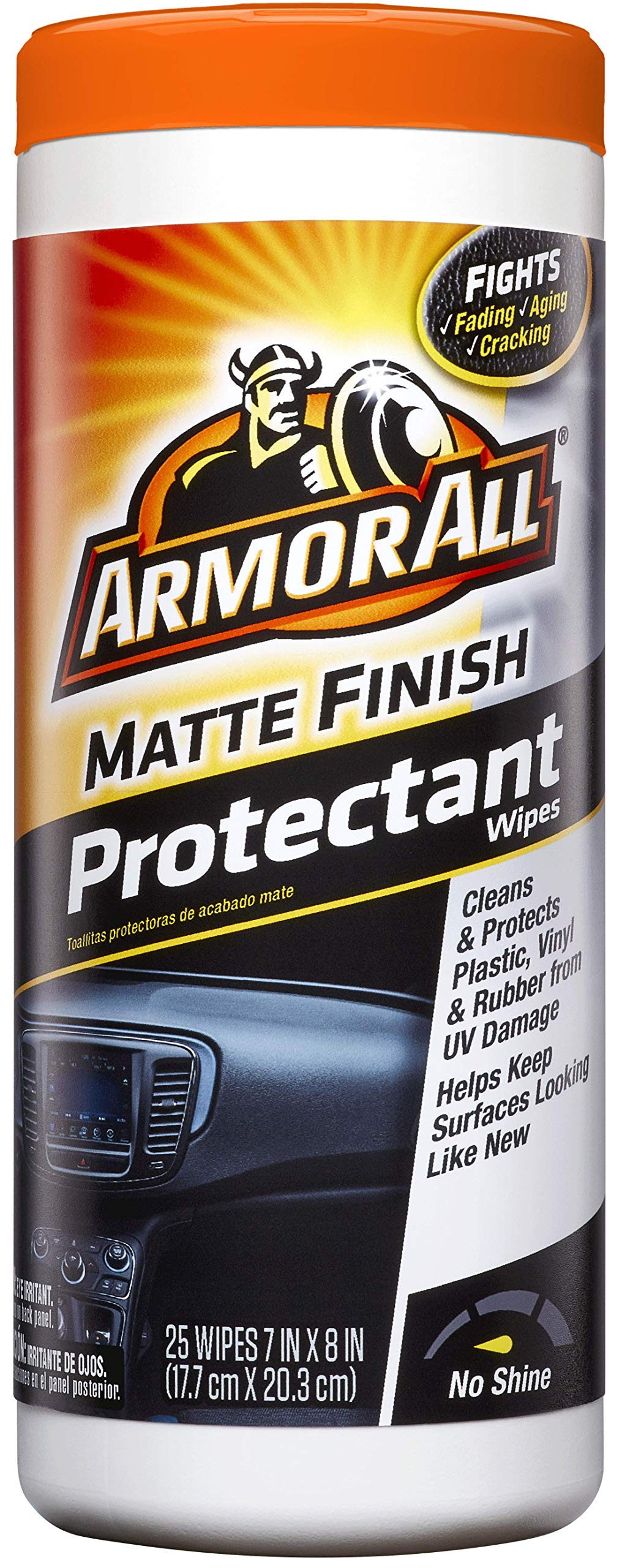 Armor All Matte Finish Protectant Wipes (25 count) (Case of 6)