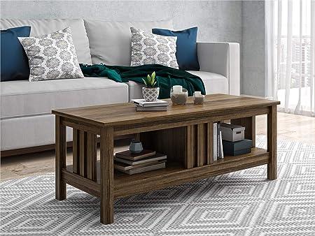 Ameriwood Home Adams Coffee Table, Brown Oak