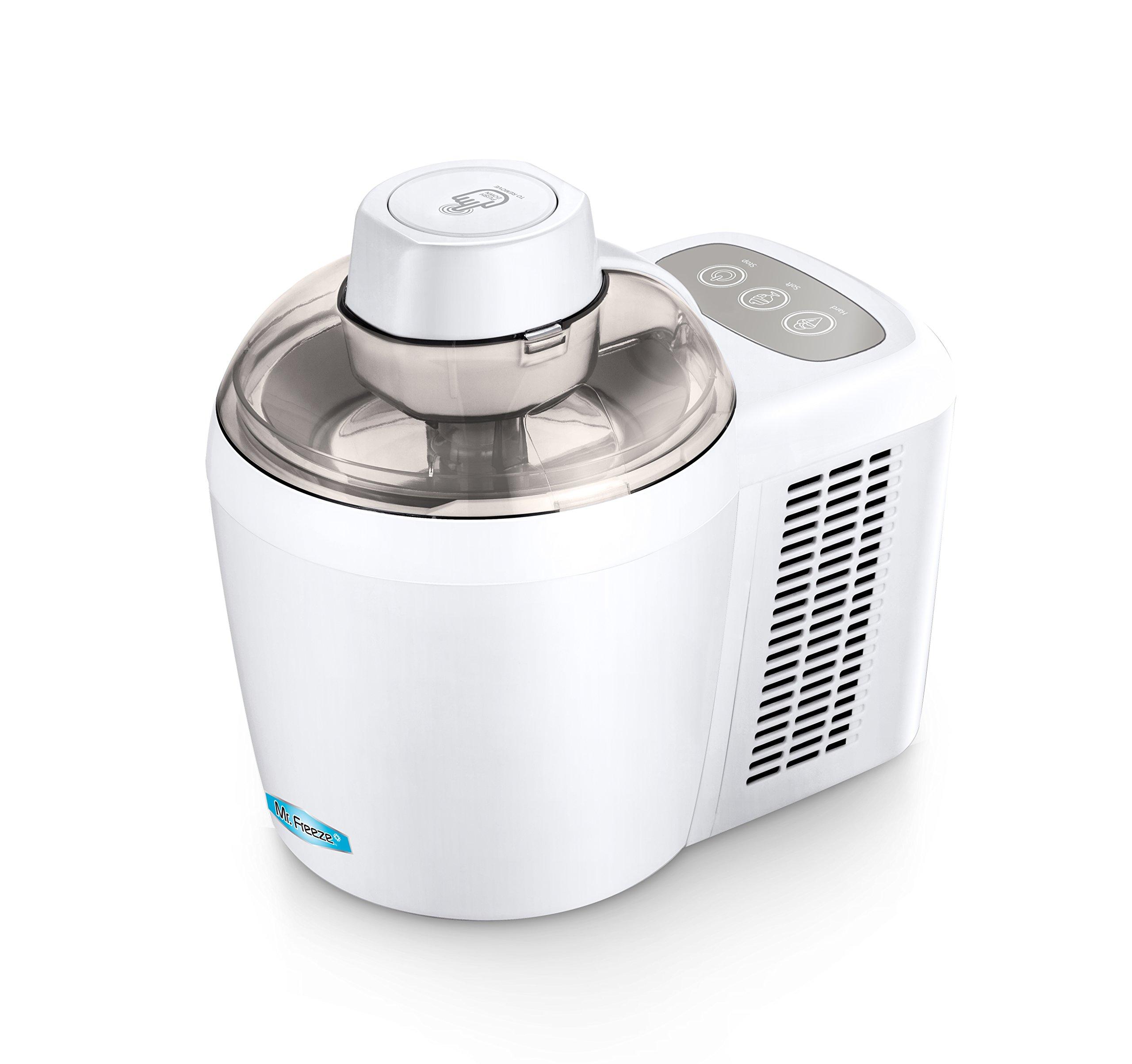 Mr. Freeze EIM-700 Self-Freezing Self-Refrigerating Ice Cream Maker, 1.5 Pint, White by Maxi-Matic (Image #1)