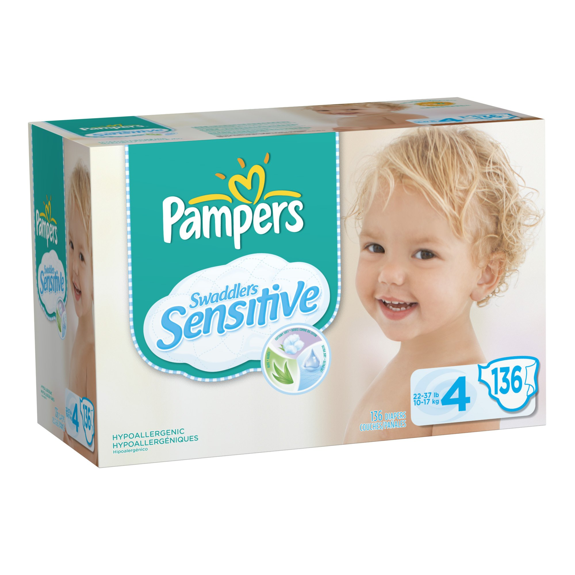 Pampers Swaddlers Sensitive Diapers, 136 Count