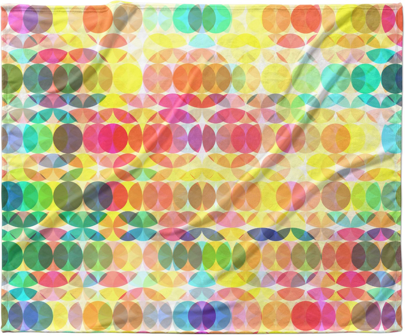 KESS InHouse Fimbis 'SercuelarToo' Geometric Circles, 30' x 40' Fleece Baby Blanket, 40' x 30'