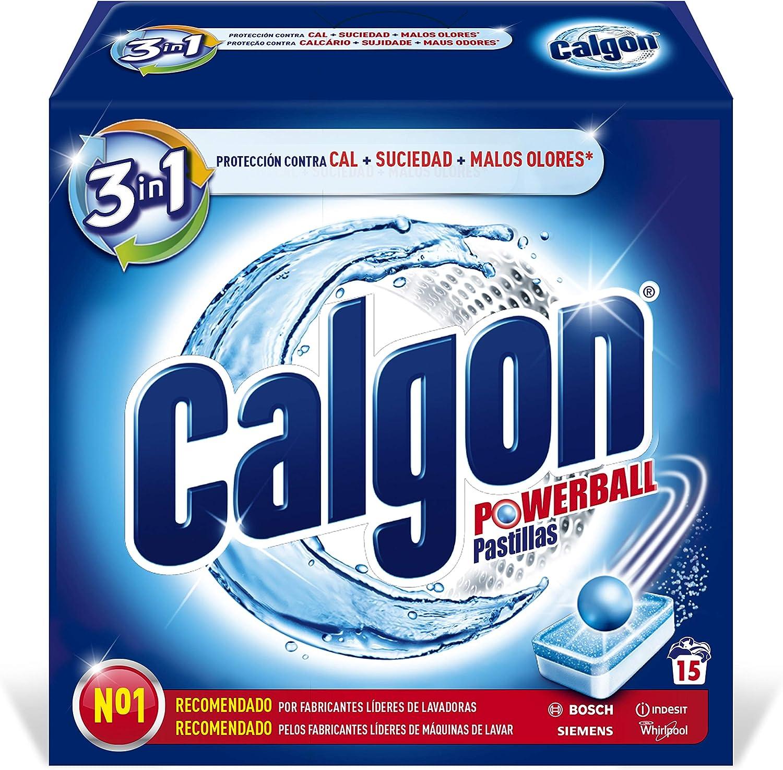 Calgon Powerball Pastillas - Antical para la Lavadora, Elimina ...
