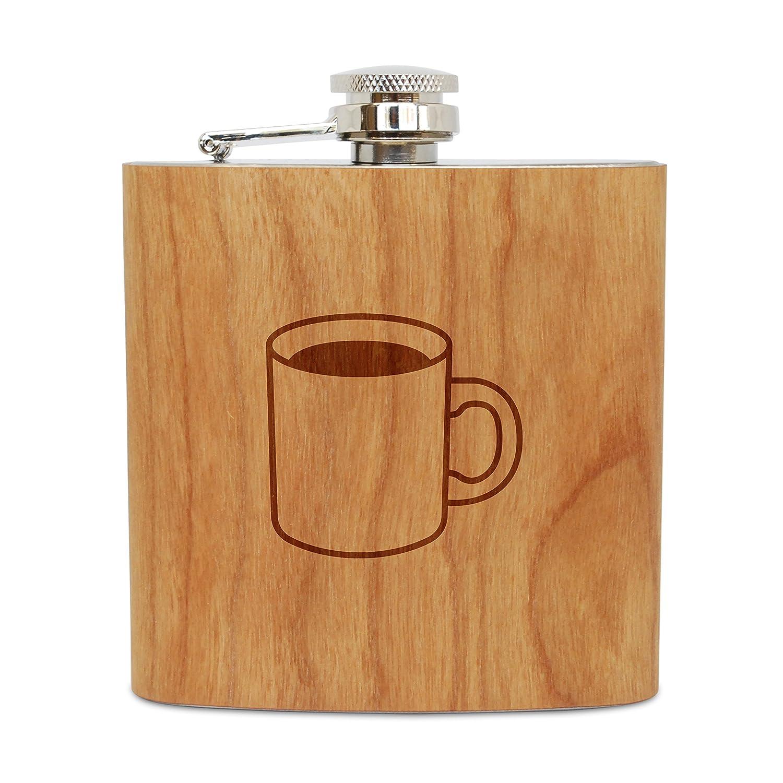 激安特価  木製マグカップ6オンスフラスコ(チェリー)、ステンレススチールボディ、ハンドメイドin USA USA B06Y4FV4TN, ソデガウラシ:67cb1177 --- a0267596.xsph.ru