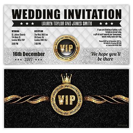 Invitaciones De Boda Tarjetas De Invitación Vip Pass De