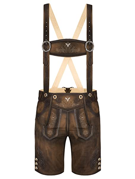 Almbock Lederhose Herren kurz Trachten Lederhose kurz aus edlem Leder von Gr. 46 60 Kurze Lederhose in vielen Farben perfekt für Oktoberfest oder
