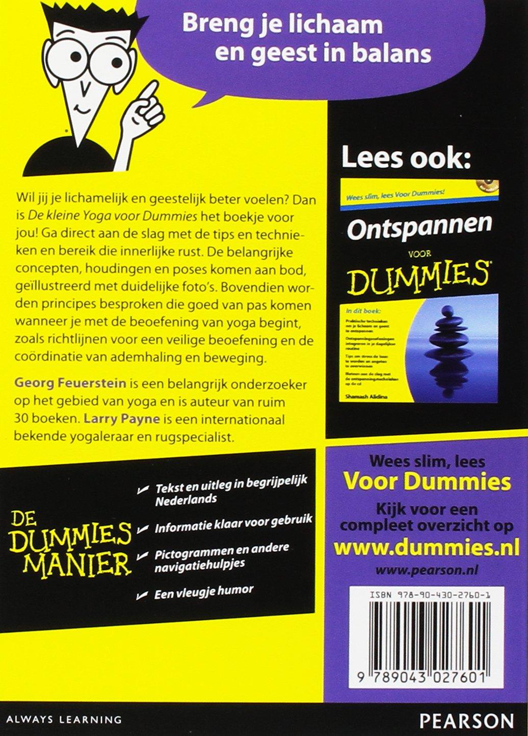 De kleine yoga voor Dummies: Amazon.es: Georg Feuerstein ...