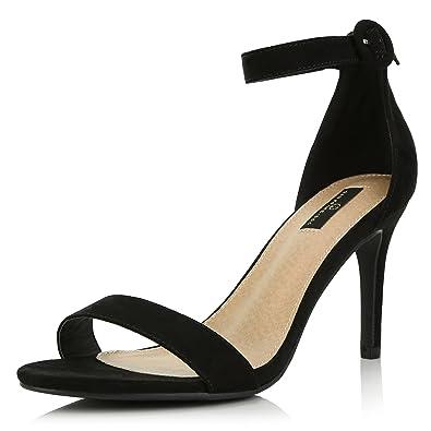 cbe69b19d6b DailyShoes Women s Stilettos Open Toe Pump Ankle Strap Dress High Heel  Sandals