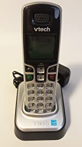 VTech CS6209 Accessory Cordless Handset, Silver/Black | Requires a VTech CS6219 or CS6229 Expandable Phone System to Operate