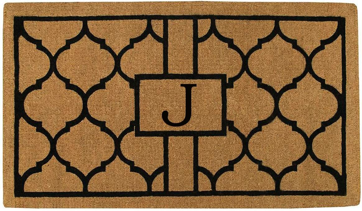 Home More 180082436J Pantera 2 X 3 Extra-Thick Monogrammed Doormat Letter J