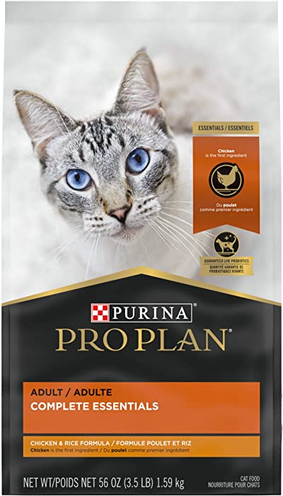 Purina Pro Plan With Probiotics, High Protein Dry Cat Food, Chicken & Rice Formula - 3.5 lb. Bag