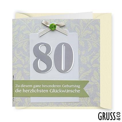 Botón tarjeta 27 - cumpleaños 80 - Tarjeta de cumpleaños ...