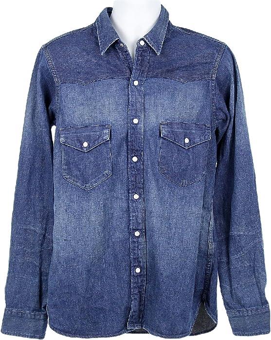 7d2c5bdee6 Chimala for J Crew Denim Western Shirt Sz S Style 87740 Long Sleeve Shirt  at Amazon Men s Clothing store