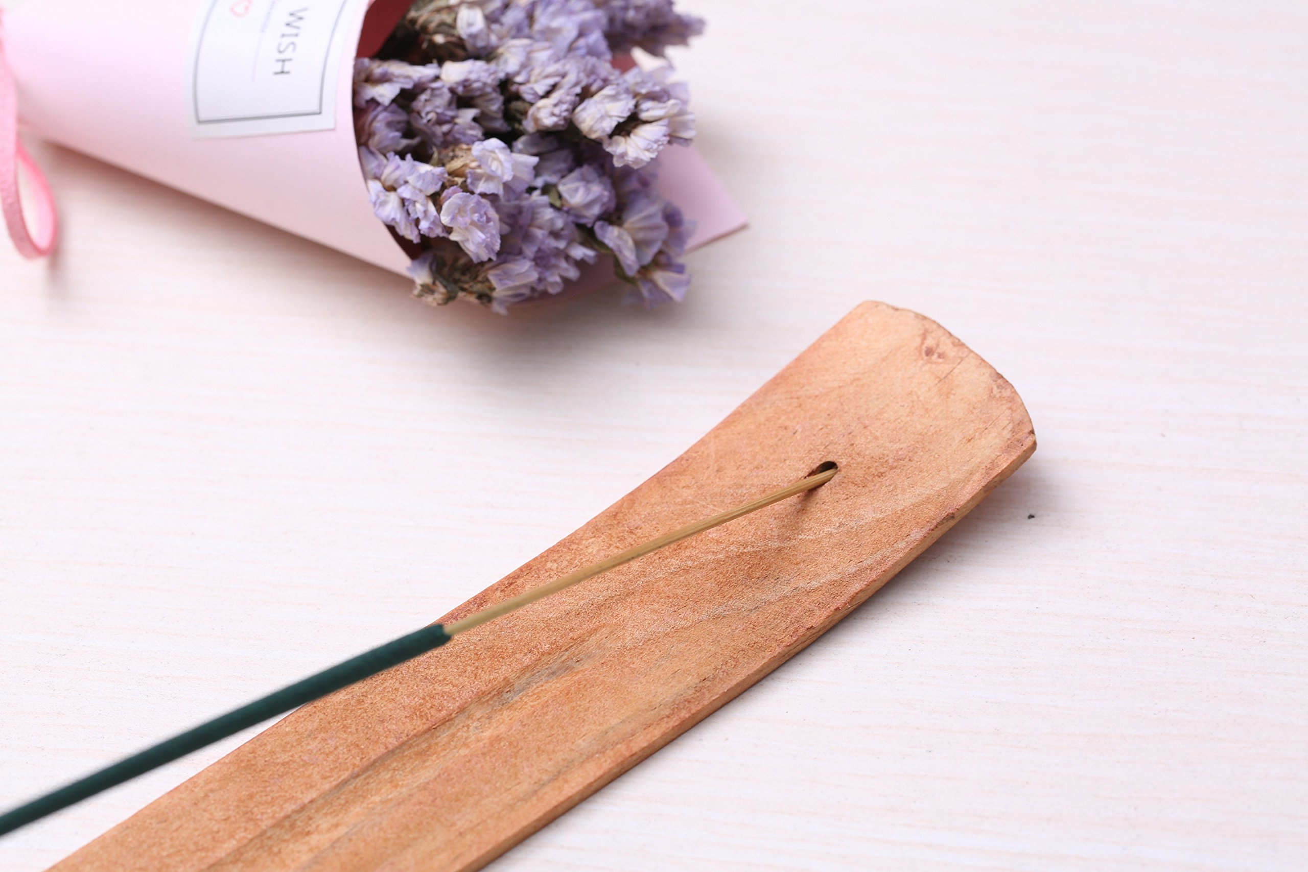NatureMax Sticks, Incense Stick, 100% Natural, Bamboo Infused with Citronella, Lemongrass (40 Sticks with Incense Holder) by NatureMax (Image #4)