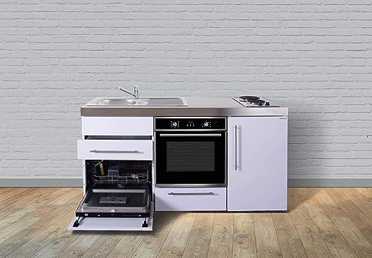 Miniküche Mit Kühlschrank Und Geschirrspüler : Stengel steel concept miniküche premiumline mpbgs u weiß