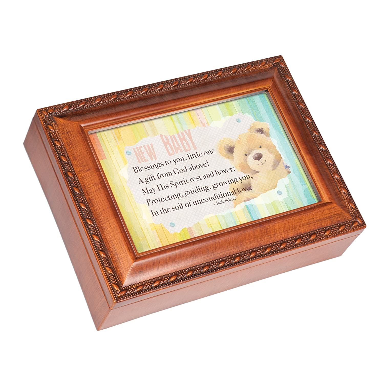 一流の品質 Baby Blessings Loves Little One Bear木製仕上げジュエリー音楽ボックスPlays Little Jesus Loves Me Blessings B01M6ZZDW4, MANYOJAPAN:87176c72 --- arcego.dominiotemporario.com