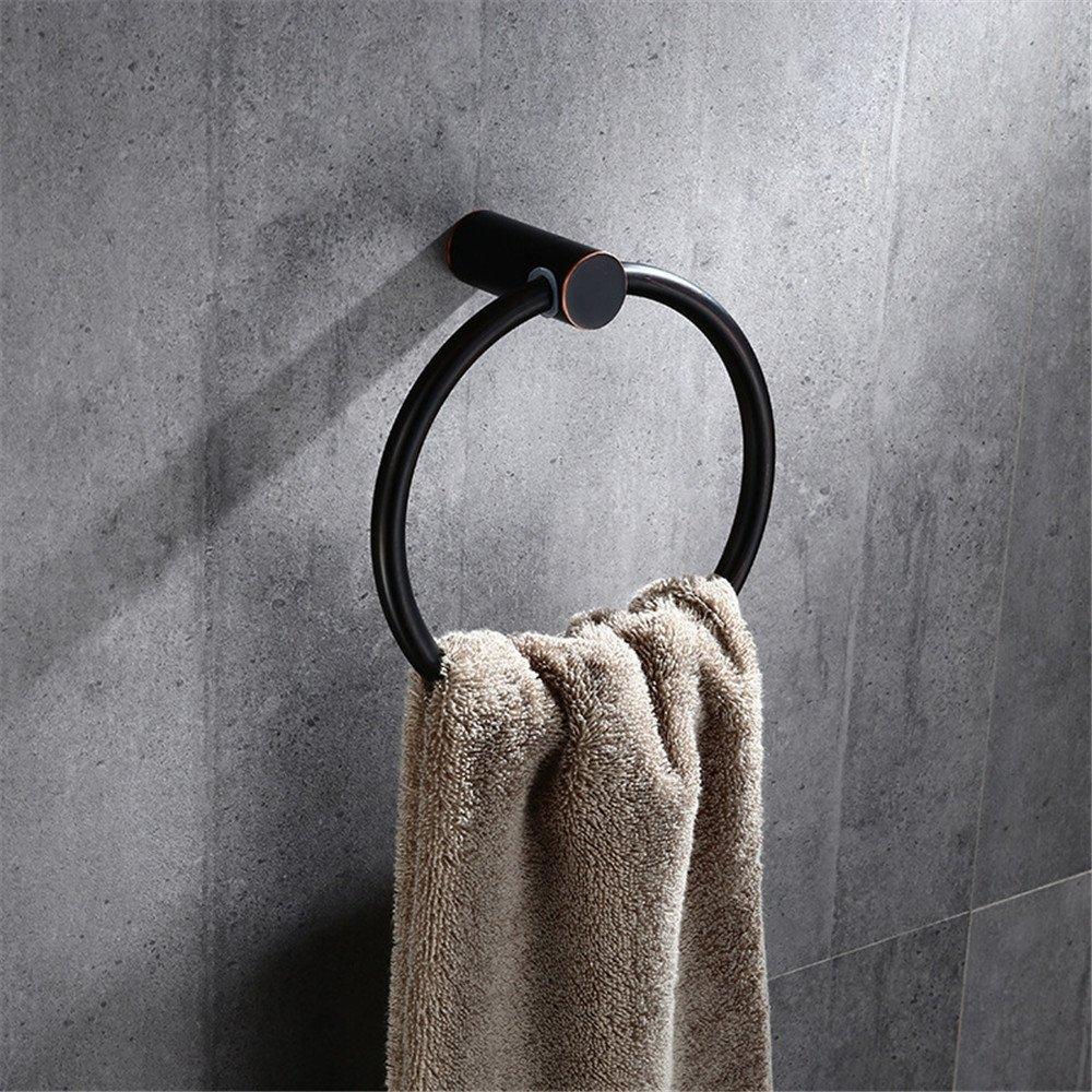 WANDOM Kupfer Europäischen Schwarzen Bad Anhänger Rack Handtuch Ring Einzigen Rod Badezimmer Hardware Anhänger Handtuchhalter
