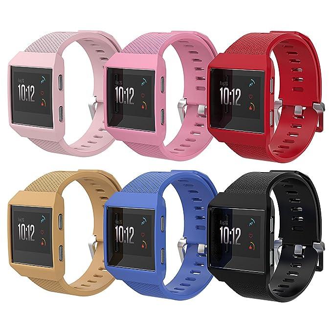 Fitbit Ionic Caso, Basenor Ultra Slim Ligero policarbonato Duro Cubierta de Parachoques Protectora Marco Protector para Fitbit Ionic Reloj Inteligente ...