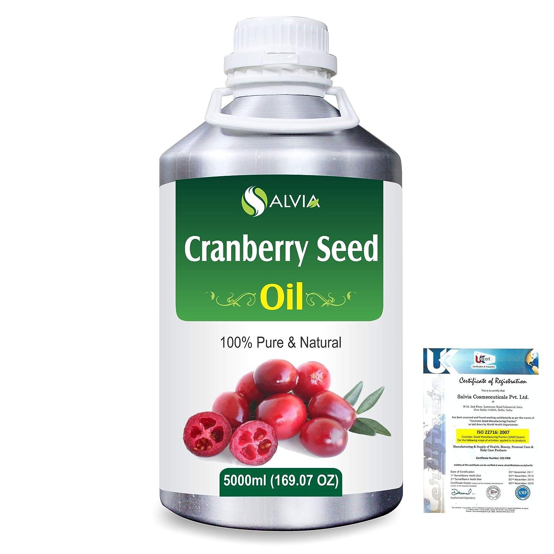 Cranberry Seed (Vaccinium macrocarpon)100% Natural Pure Carrier Oil 5000ml/169 fl.oz. B07RD792H7