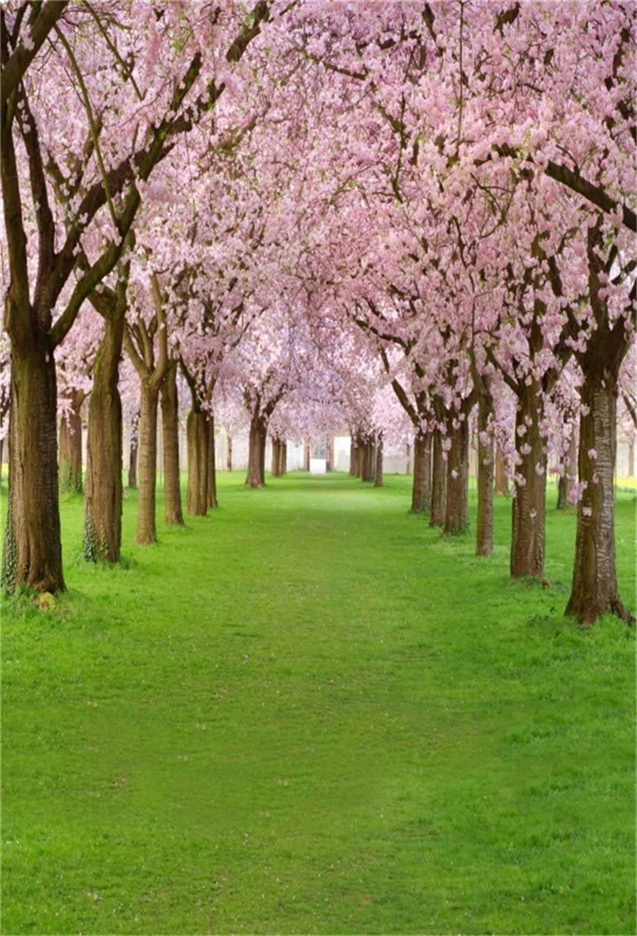 CdHBH 6x8ft Spring Forest Park Small Flower Portrait Clothing Photo Photography Background Cloth Photo Studio Studio Photo Photography Prop Wallpaper Home Decoration Vinyl Material